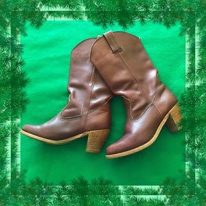 Dexter Brown Vintage Western Boots Size 7 1/2